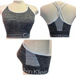 Calvin Klein grey sports bra sz L